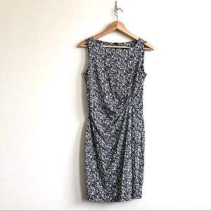 Ann Taylor Black & White Dotted Sheath Dress